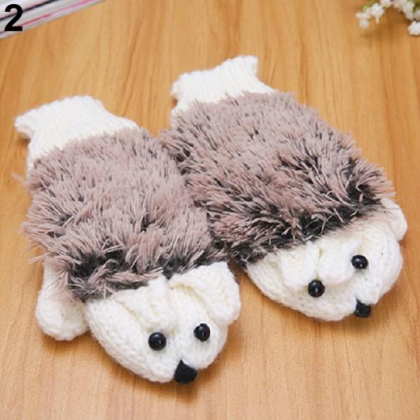 Зимни ръкавици бели